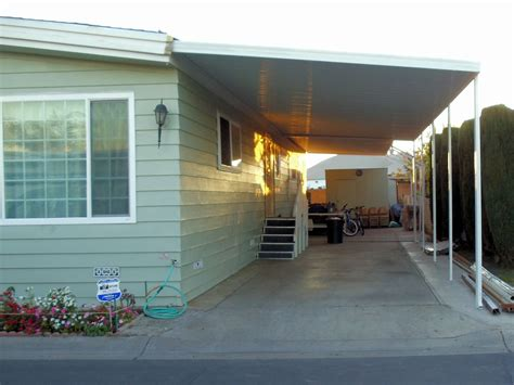 Home Awnings Canopy Image Gallery Mobile Home Awning Supports