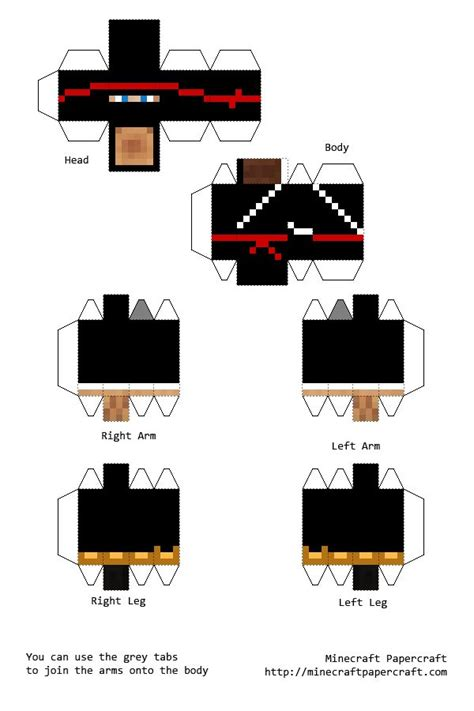 Minecraft Skin Papercraft - 17 best images about papercraft on