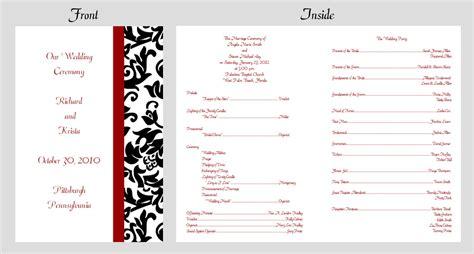 Attractive Church Wedding Ceremony Program #3: DamaskProgram.jpg