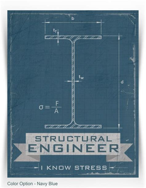 Structural Engineer by Structural Engineer I Know Stress Print Modern Funny