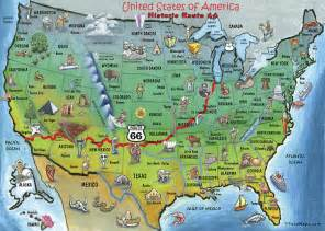 historic route 66 map painting by kevin middleton