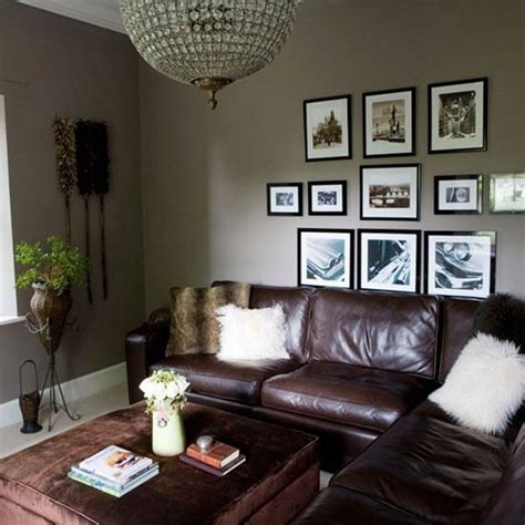brown leather sofa living room design gray and brown living room small living room ideas gray