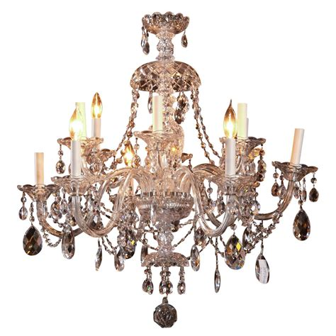 Waterford Chandelier Cut Twelve Arm Chandelier Possibly Waterford