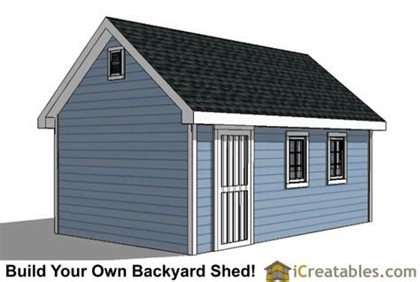 12 X16 Shed Plans by 12x16 Traditional Backyard Shed Plans