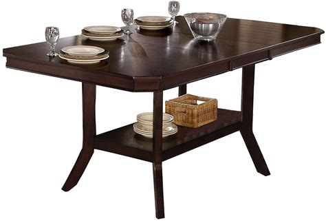 bobbie espresso counter height dining table p832 12