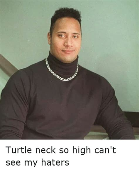 Turtleneck Meme - turtle neck so high can t see my haters funny meme on sizzle