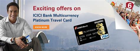 Icici Gift Card Benefits - multi currency platinum travel card