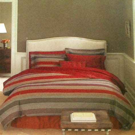 fieldcrest luxury jacquard stripe queen duvet 2 shams 3