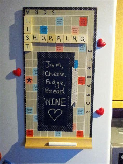 Handmade Scrabble Board - scrabble board notice board simple handmade ideas