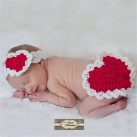 newborn valentines day valentines baby headband cover set newborn