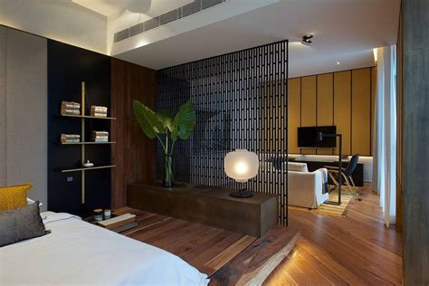 Small Room Divider Interior Design Ideas Use A Screen As A Room Divider In A Small Apartment Bedroom Contemporist