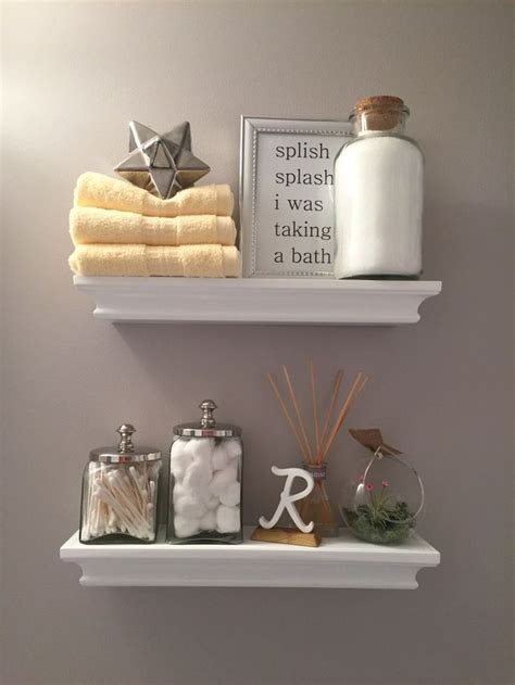 How To Decorate Bathroom Shelves Best 25 Bathroom Shelf Decor Ideas On Pinterest Half Bath Decor Powder Room Decor And Half