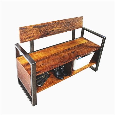 Buy A Custom Unique Reclaimed Wood Storage Foyer Bench Made To Order From What We