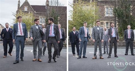 groom and best man and ushers before wedding bristol