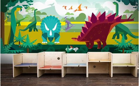 Decor Mural Panoramique by Papier Peint Panoramique Dinosaure D 233 Co Murale Enfant