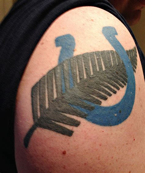 colts tattoo fans show true colors with team tattoos sportsnation espn