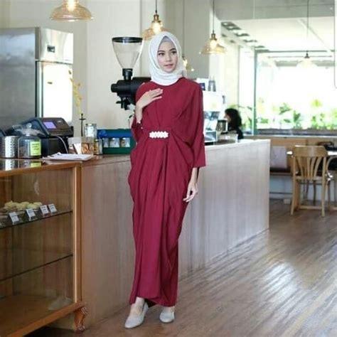 Baju Kaftan Merah baju dress gamis kaftan model terbaru