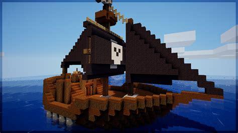 barco pirata minecraft minecraft como construir um barco pirata youtube