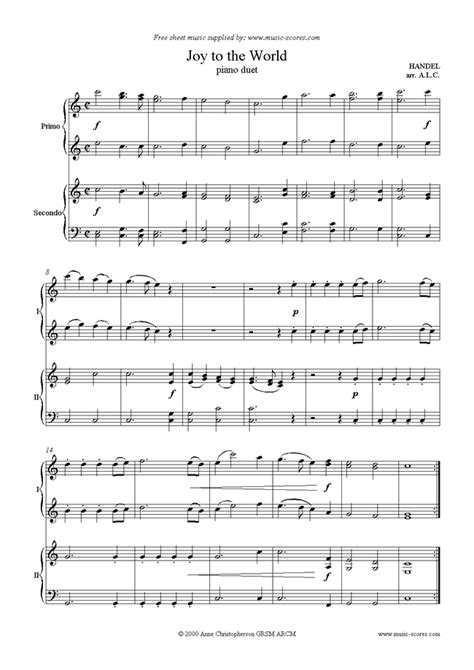 Christmas Piano Duet Sheet Music Download   sokolcooking