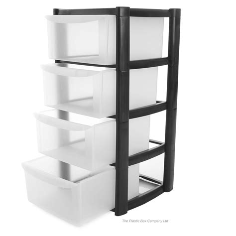 Storage Drawers For by Buy 4 Drawer Plastic Storage Tower Unit 4 Tier Plastic