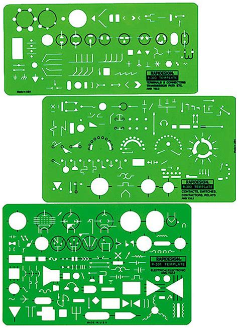 rapidesign r 300 electrical electronic symbols drafting