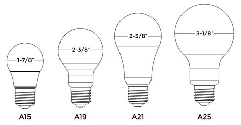 normal light bulb size normal light bulb size bulbs ideas