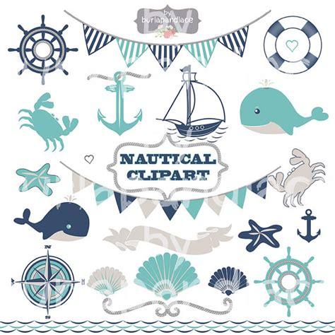Nautical Wedding Clipart by Nautical Clipart Whale Sea Clipart Banner Sailboats