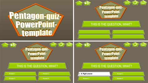 quiz theme powerpoint powerpoint quiz template pentagon ppt themes