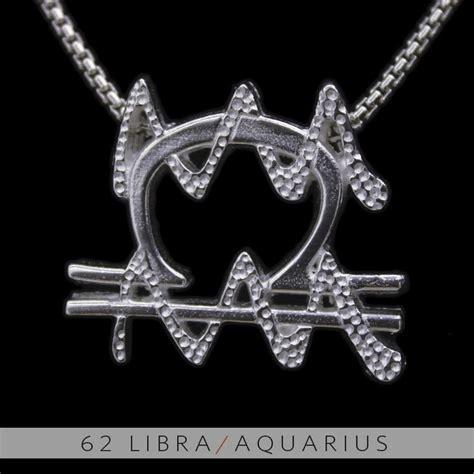 the libra and aquarius silver unity pendant