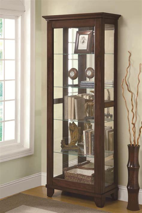 Coaster Curio Cabinets 950187 5 Shelf Curio Cabinet with