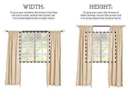 how to properly hang curtains how to hang curtains the right way do it yourself fun ideas