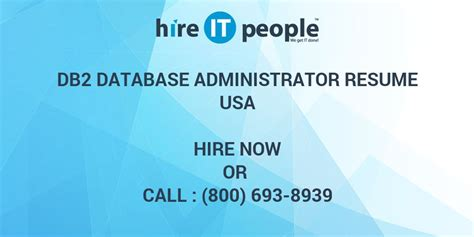 Z Os Administrator Resume by Db2 Database Administrator Resume Hire It We
