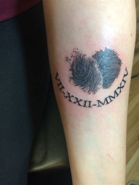 fingerprint heart tattoo tattoos pinterest