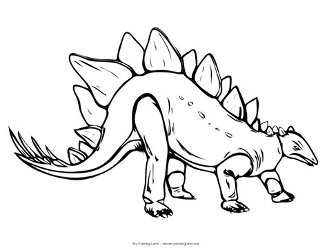 Realistic Dinosaur Coloring Pages dinosaur my coloring land