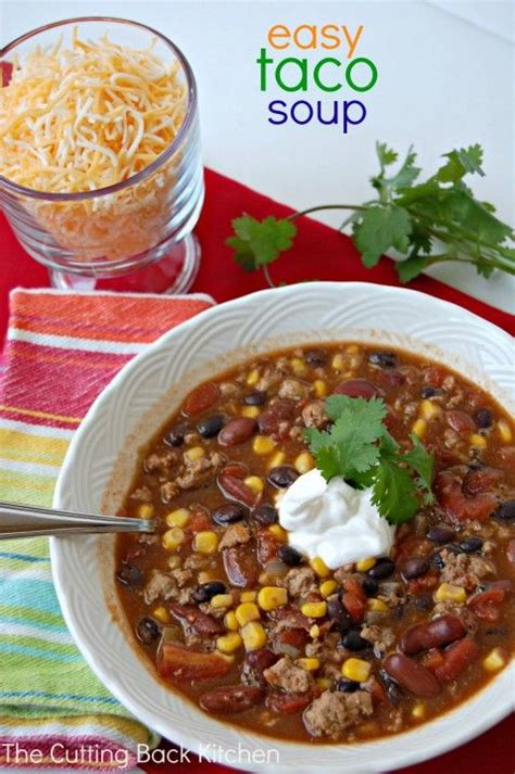 easy taco soup recipe tables homemade and stove