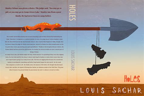 holes book report ideas holes book jacket on behance