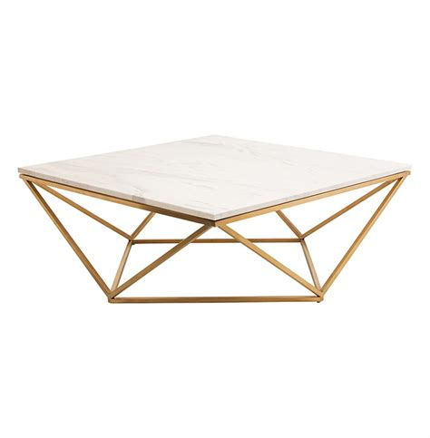 rosalie regency gold steel white marble coffee