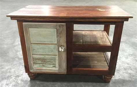 Barnwood Kitchen Island Chunky Barn Wood Kitchen Island Wooden Kitchen Island Reclaimed Wood Kitchen Island