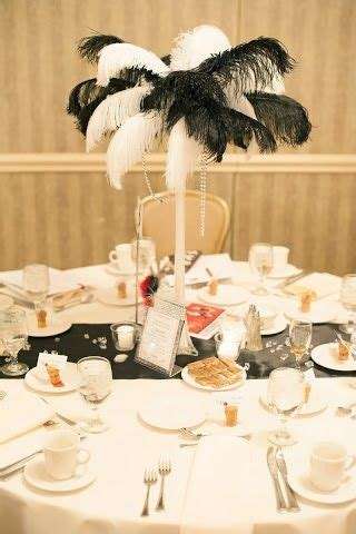 Roaring 20s party:Ostrich Feather centerpiece   Roaring 20