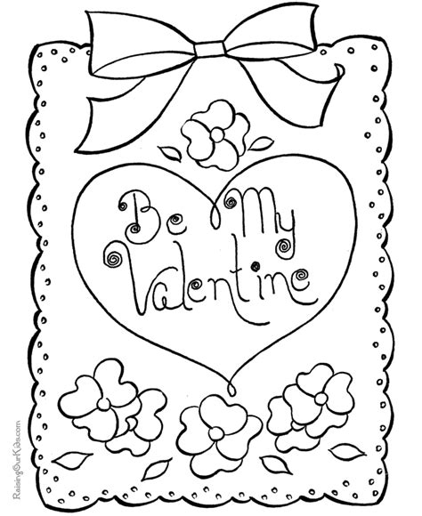 Free Printable Valentines Day Coloring Pages Coloring Home Coloring Pages Of Cards