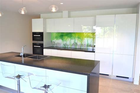 Mirrored Kitchen Backsplash by Printed Glass Printed Glass Splashbacks Wall Panels