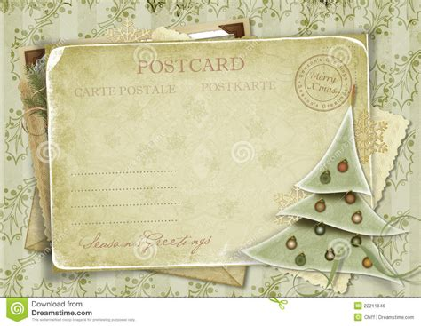 christmas wallpaper invitations vintage background with postcard and tr stock illustration illustration of