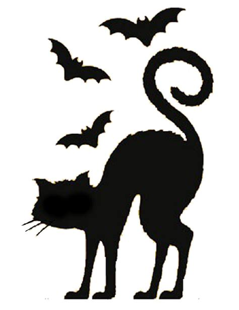 Cat Silhouette Template by Black Cat Silhouette Template Clipart Best