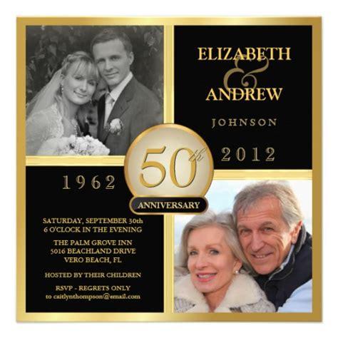 50th anniversary invitations 50th wedding anniversary ideas on 50th wedding