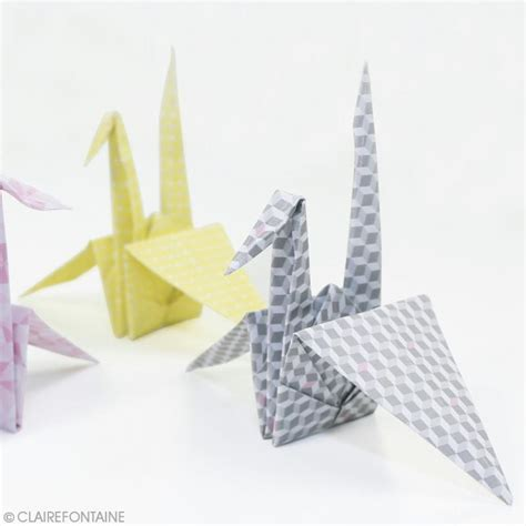 Origami Mobile Kit - kit creativ paper box clairefontaine mobile grues