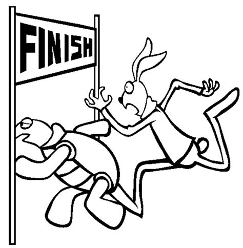 hare and the tortoise colouring pages the tortoise and the hare coloring pages coloring home