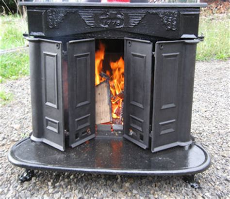 Franklin Fireplaces by More Is Said Than Done Franklin Stove Restoration