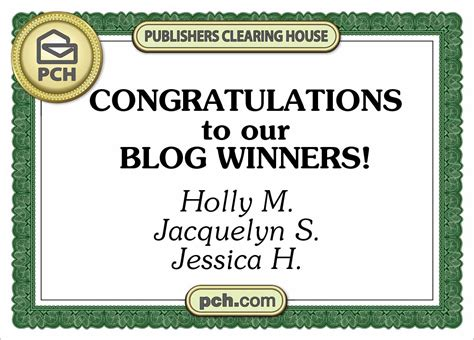 Does Anyone Ever Win The Publishers Clearing House Sweepstakes - congratulations to our newest pch blog prize winners pch blog