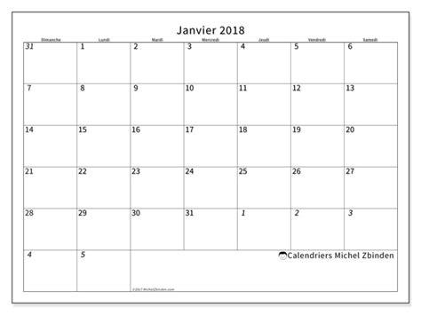 calendriers janvier 2018 ds