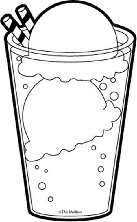 ice cream soda coloring page ice cream soda clipart 44